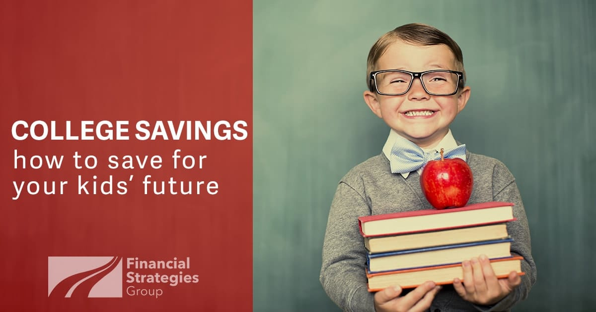 College Savings article with picture of young boy holding books