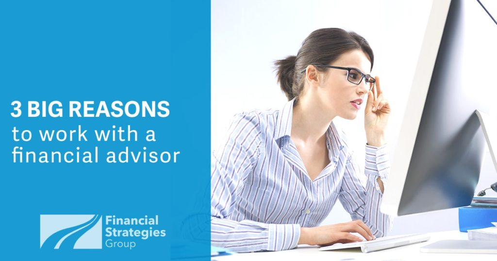 3 Big Reasons to Work With A Financial Advisor - woman at computer screen trying to figure out investing