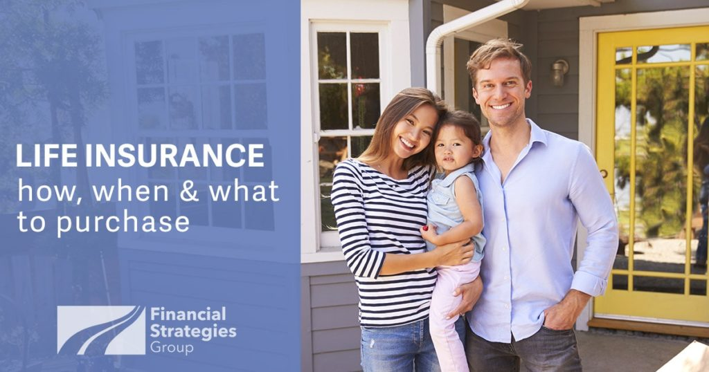Life Insurance Basics - family together in front of new home
